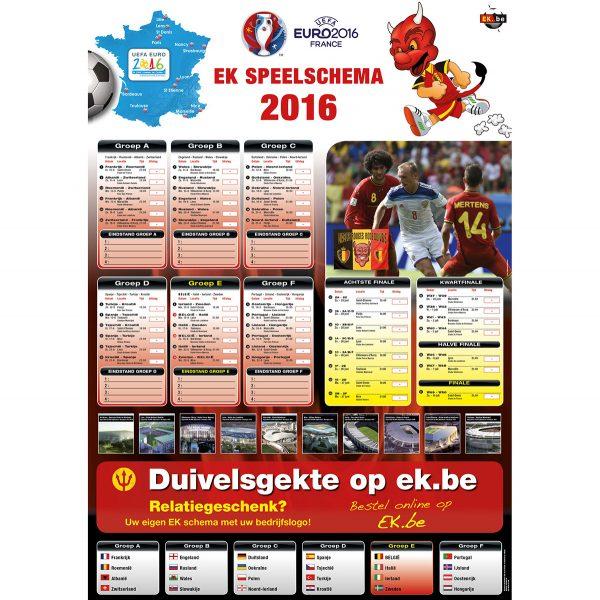 EK speelschema poster 2016