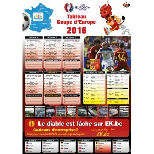 EK speelschema poster 2016 France