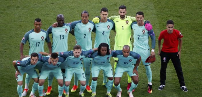 Mascotte teamfoto Portugal